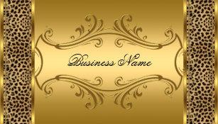 Animal print business cards templates zazzle elegant classy gold black leopard animal print business card colourmoves Images