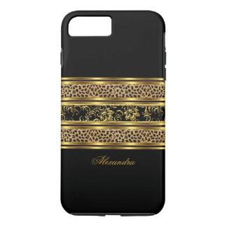 Elegant Classy Gold Black Leopard Floral iPhone 8 Plus/7 Plus Case
