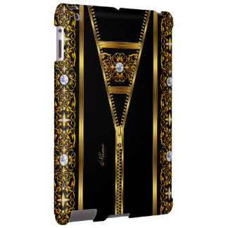 Elegant Classy Gold Black zipper