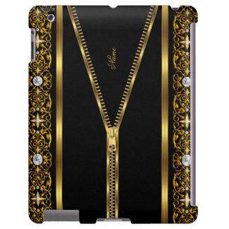 Elegant Classy Gold Black zipper 2