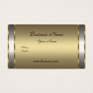 Elegant Classy Gold Bronze silver Business Card