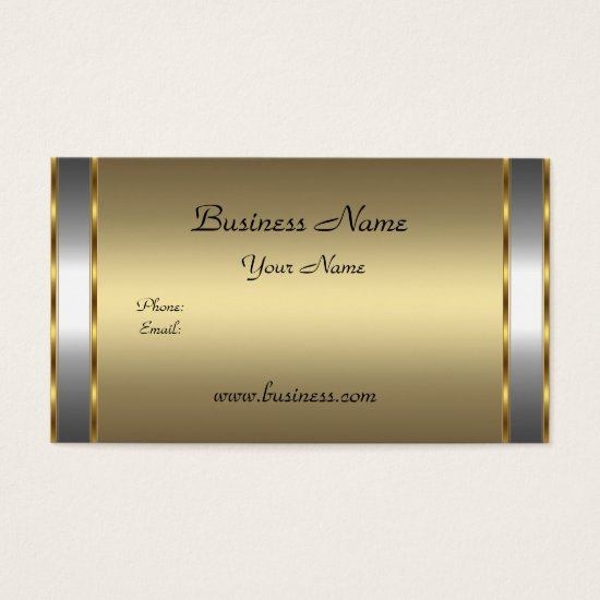 Elegant Classy Gold Bronze silver Business Card