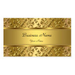 Elegant Classy Gold Damask Embossed Look Business Cards