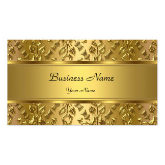 Elegant Classy Gold Damask Embossed Look Double-Sided Standard Business Cards (Pack Of 100)
