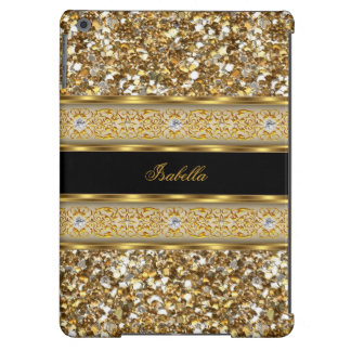 Elegant Classy Gold Diamond Glitter iPad Air Cover