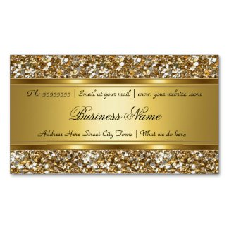 Elegant Classy Gold Faux Glitter Look Business Magnetic Business Card