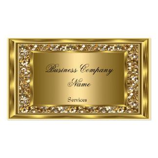 Elegant Classy Gold Frame Faux Glitter Business Card
