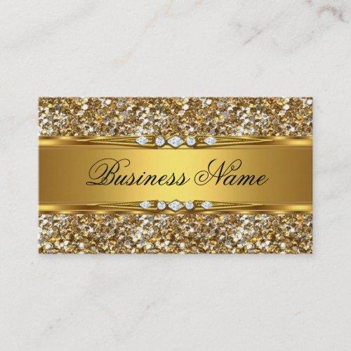 Elegant Classy Gold Glitter Diamond Look Business Card