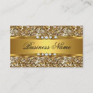 Classy business cards zazzle elegant classy gold glitter diamond look business card colourmoves