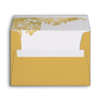 Elegant Classy Gold Lace for 5 x 7 Card Envelope