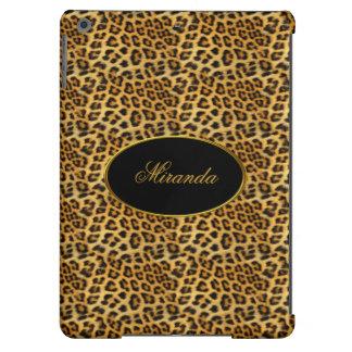 Elegant Classy Gold Leopard Add Name Monogram 3 iPad Air Cases