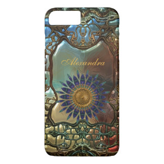 Elegant Classy Gold Metal Art Nouveau iPhone 7 Plus Case