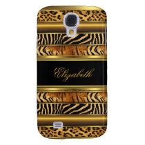 Elegant Classy Gold Mixed Animal Print Samsung Galaxy S4 Case