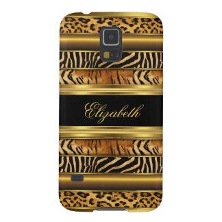 Elegant Classy Gold Mixed Animal Samsung Galaxy S5 Case For Galaxy S5