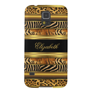 Elegant Classy Gold Mixed Animal Samsung Galaxy S5 Galaxy S5 Covers