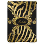 Elegant Classy Gold Zebra Black Floral 3 iPad Air Cases
