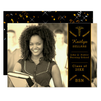 Elegant Classy Nursing | Medical School Graduation Card