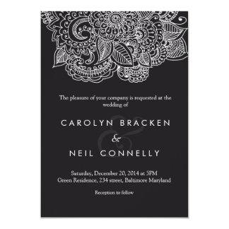 Elegant Classy Paisley Pattern Floral Wedding Card