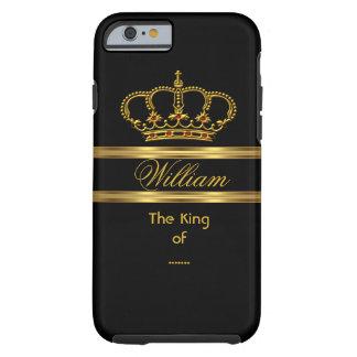 Elegant Classy Royal King Gold Black Crown 3 Tough iPhone 6 Case