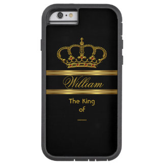 Elegant Classy Royal King Gold Black Crown 3 Tough Xtreme iPhone 6 Case