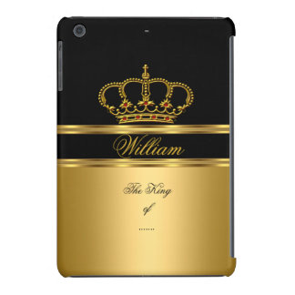 Elegant Classy Royal King Gold Black Crown 4a iPad Mini Cases