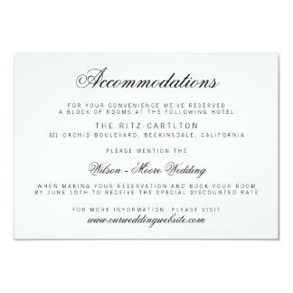 Elegant Classy Script Wedding Accommodations Card
