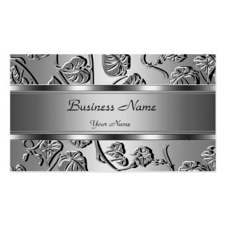 Elegant Classy Silver Embossed Look Image Business Card