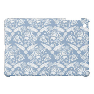 Elegant Classy Soft Blue Floral Cover For The iPad Mini