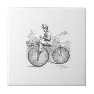 Elegant Classy vintage retro old bike Tile