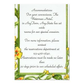 Elegant Classy Wedding Insert Personalized Card