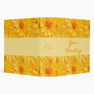Elegant, classy yellow lilly files & albums binder