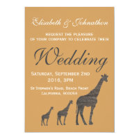 Elegant Clay Giraffe Wedding Invitation