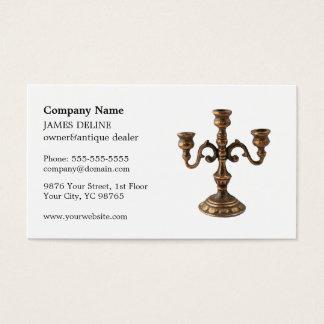 Elegant Clean Antique Dealer Business Card