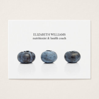 Elegant Clean Blueberry Nutritionist Health Coach Business Card