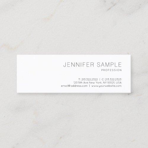 Elegant Clean Design Professional Plain Trendy Mini Business Card