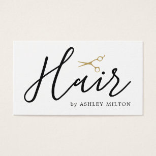 Cleaning business cards templates zazzle elegant clean white scissors hair stylist business card reheart Choice Image