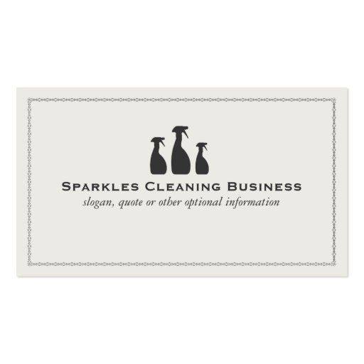 Elegant Cleaning Business Business Cards