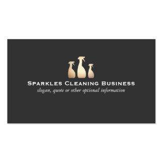 Elegant Cleaning Business Gold and Black Business Card