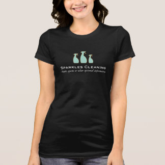 Elegant Cleaning Service Spray Bottle Logo T-Shirt