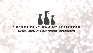 House cleaning business cards templates zazzle elegant cleaning service white bokeh business card reheart Choice Image