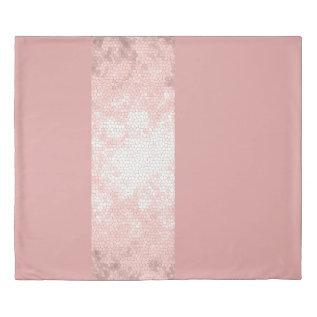 Elegant Clear Faux Rose Gold Pink Stripes Duvet Cover at Zazzle