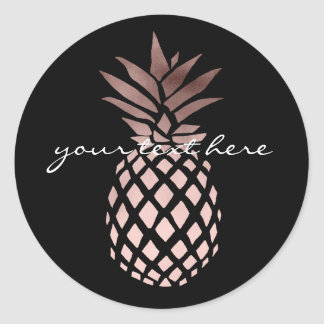 gold pineapple stickers zazzle. Black Bedroom Furniture Sets. Home Design Ideas