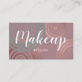 elegant clear rose gold grey geometric circles business card
