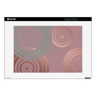 "elegant clear rose gold grey geometric circles skins for 15"" laptops"