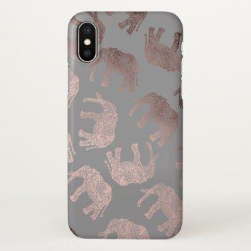 Elipsa elegant clear rose gold tribal elephant pattern iPhone x case