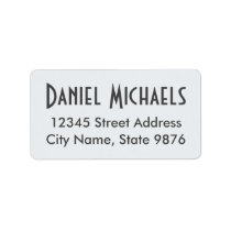 Elegant Clear White Custom Address Label