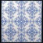 """Elegant Cobalt Blue and White Floral Style Damask Cloth Napkin<br><div class=""""desc"""">A damask style pattern I created in cobalt blue and white.</div>"""