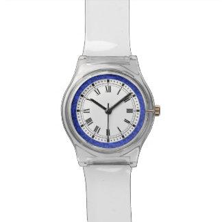 Elegant Cobalt Blue Damask Scrolls Wrist Watches