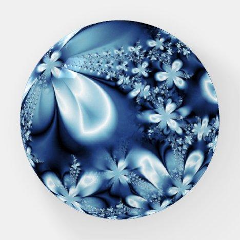 Elegant Cobalt Dark Blue Silky Flowers Paperweight