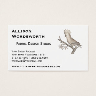 Elegant Cockatoo Antique Engraving Business Card